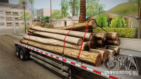 GTA 5 Log Trailer v2 IVF для GTA San Andreas вид изнутри