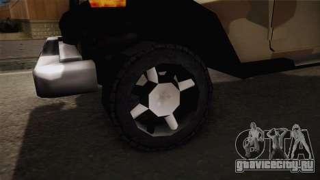 GTA 5 Crusader Mesa для GTA San Andreas вид сзади
