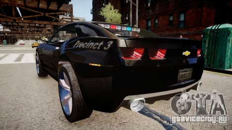 Chevrolet Camaro Concept Police для GTA 4 вид сзади слева
