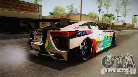 Lexus LFA Felix The Brown of ReZero для GTA San Andreas вид слева