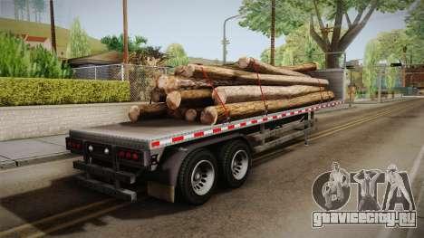 GTA 5 Log Trailer v2 IVF для GTA San Andreas вид слева