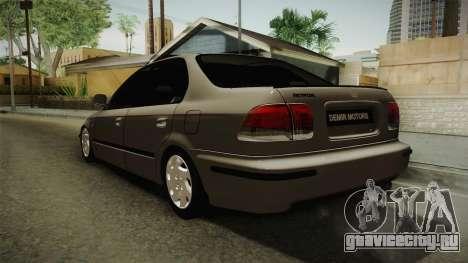 Honda Civic 1.6 iES для GTA San Andreas вид сзади слева