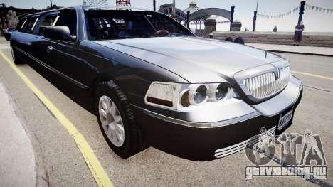 Lincoln Town Car Limousine 2010 для GTA 4 вид справа