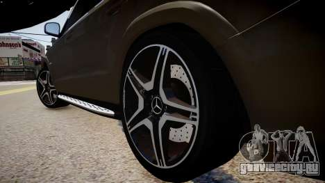 Mercedes-Benz GL63 AMG для GTA 4 вид сзади