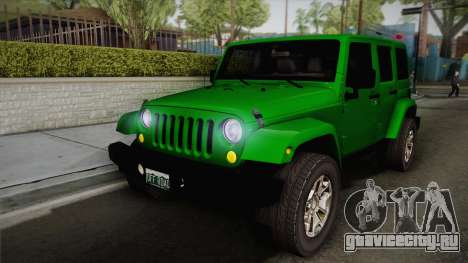 Jeep Wrangler Unlimited Rubicon 2013 для GTA San Andreas