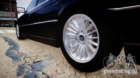 BMW 750iL E38 для GTA 4 вид сзади