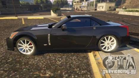 Cadillac XLR-V для GTA 5 вид слева