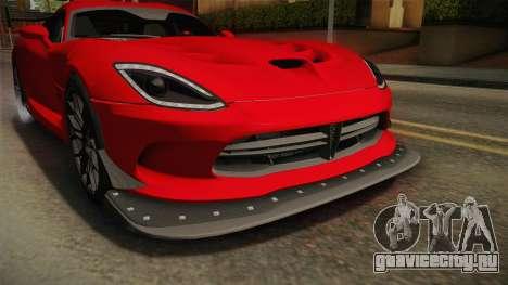 Dodge Viper ACR 2016 для GTA San Andreas вид сверху