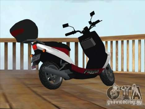 GTA IV Faggio Traveler для GTA San Andreas вид слева