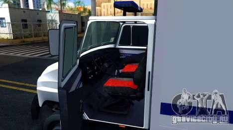 ЗИЛ 5301 Бычок Автозак для GTA San Andreas вид изнутри