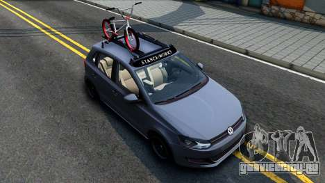 Volkswagen Polo STANCE для GTA San Andreas вид справа