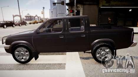 Nissan Navara Pickup Crew Cab для GTA 4 вид сзади слева