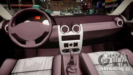 Dacia Logan 2008 для GTA 4 вид изнутри