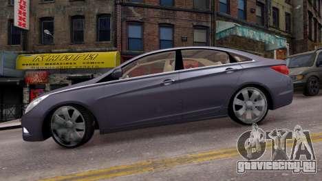 Hyundai Sonata 2011 для GTA 4 вид слева
