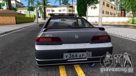 Honda Prelude для GTA San Andreas вид сзади слева