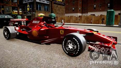 Formula 1 - LaFerrari F2007 для GTA 4 вид справа