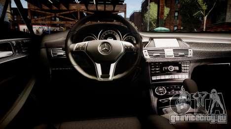 Mercedes-Benz CLS 6.3 AMG'12 для GTA 4 вид изнутри