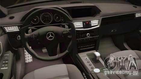 Mercedes-Benz E63 для GTA San Andreas вид изнутри
