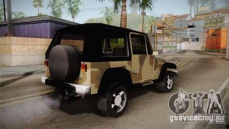 GTA 5 Crusader Mesa для GTA San Andreas вид слева