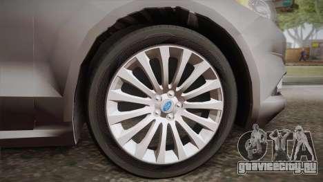 Ford Fusion Titanium 2014 для GTA San Andreas вид сзади слева