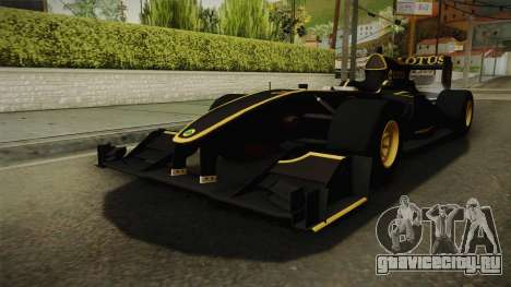 F1 Lotus T125 2011 v3 для GTA San Andreas вид справа