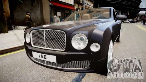 Bentley Mulsanne 2014 для GTA 4 вид сзади слева