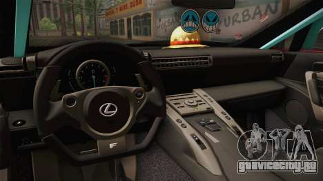 Lexus LFA Ram The Red of ReZero для GTA San Andreas вид изнутри