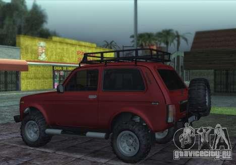 Niva 2121 4x4 Offroad для GTA San Andreas вид слева