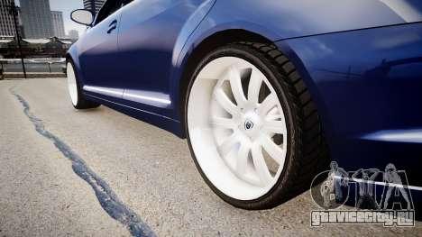 Mercedes Benz S500 T для GTA 4 вид сзади