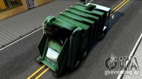 DFT Trash для GTA San Andreas вид сзади