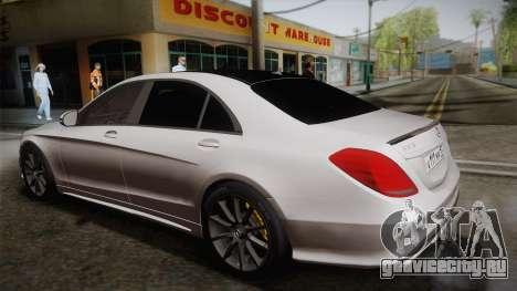 Mercedes-Benz S63 AMG W222 для GTA San Andreas вид слева