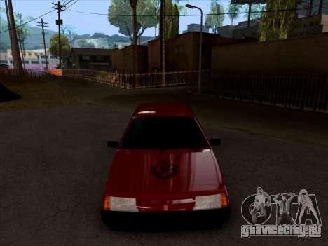 ВАЗ 2109 БПАН для GTA San Andreas вид изнутри