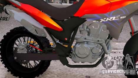 Honda CB750 (bagger) для GTA 4 вид изнутри