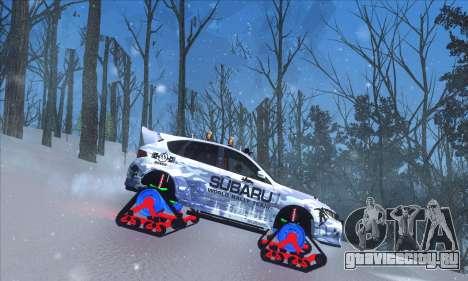 Subaru Impreza WRX STi Snow для GTA San Andreas вид сзади слева