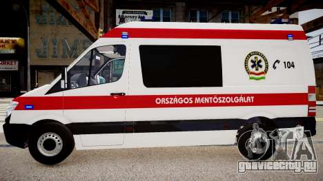 Hungarian Mercedes Sprinter Ambulance для GTA 4 вид слева