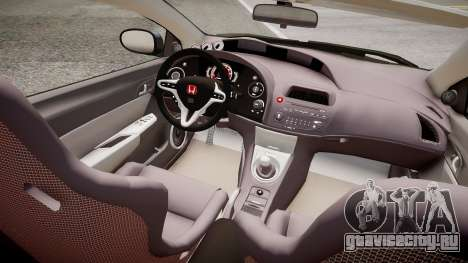 Honda Civic Type R Mugen '2010 v1.5 для GTA 4 вид изнутри