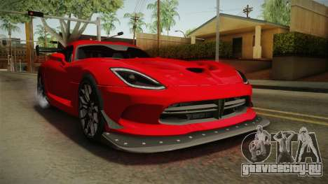 Dodge Viper ACR 2016 для GTA San Andreas вид справа