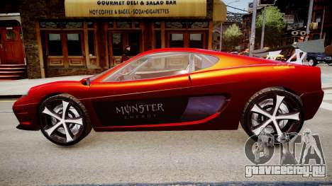 Modified Turismo для GTA 4 вид слева