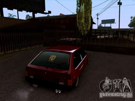 ВАЗ 2109 БПАН для GTA San Andreas вид сзади