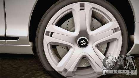 Bentley Continental GTV8S для GTA San Andreas вид сзади слева