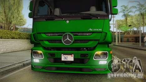 Mercedes-Benz Actros 2646 для GTA San Andreas вид сзади