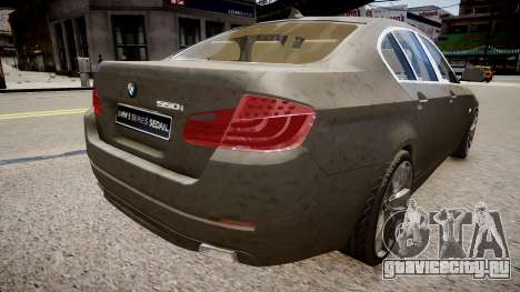 BMW 550i F10 v2 для GTA 4 вид сзади слева