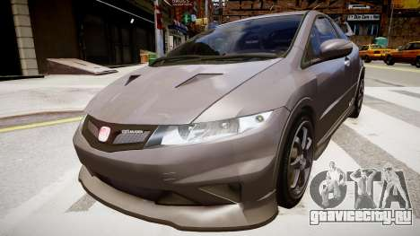 Honda Civic Type R Mugen '2010 v1.5 для GTA 4 вид справа