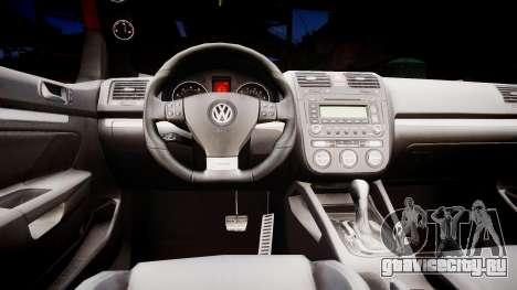 Volkswagen Golf V GTI для GTA 4 вид изнутри
