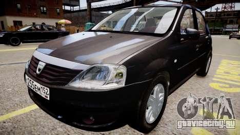 Dacia Logan 2008 для GTA 4 вид справа