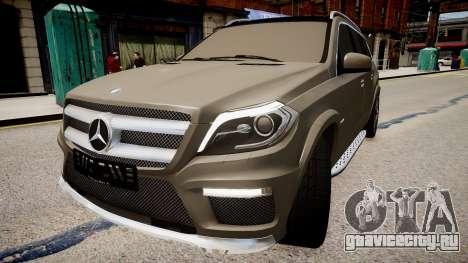 Mercedes-Benz GL63 AMG для GTA 4 вид справа