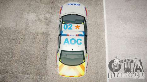 Met Police Vauxhall Omega для GTA 4 вид изнутри
