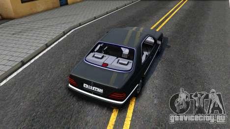 Mercedes-Benz 600SEC 1993 для GTA San Andreas вид сзади
