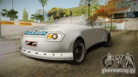 Infernus Будущего для GTA San Andreas вид слева