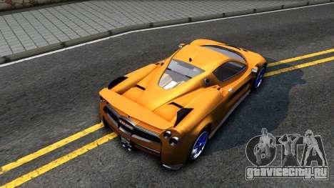 GTA V Progen Anubis для GTA San Andreas вид сзади
